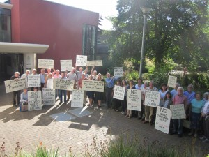 Outside West Devon Council Offices 29th July 2014