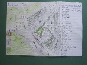 Ipplepen Village Map by Felicity Lamont-Tuckett (aged 8)
